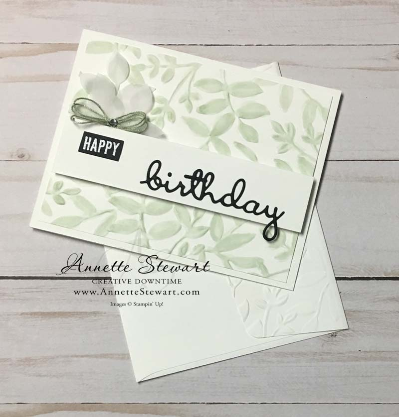 Birthday Stampin' Blend Card