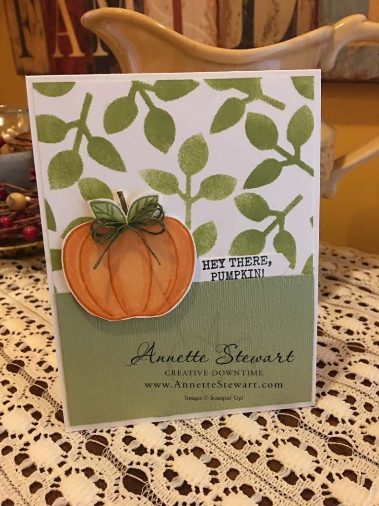 Custom velum stenciled card
