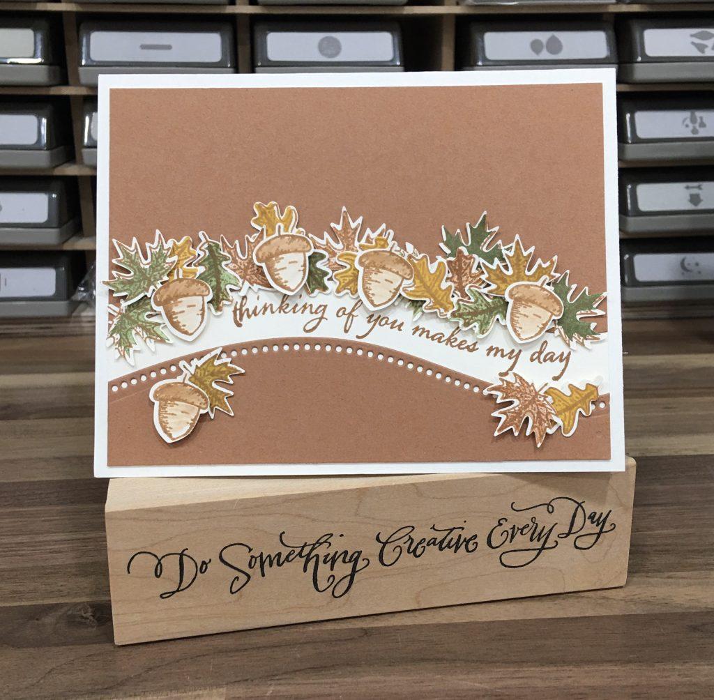 Fall Leaf Curvy Card