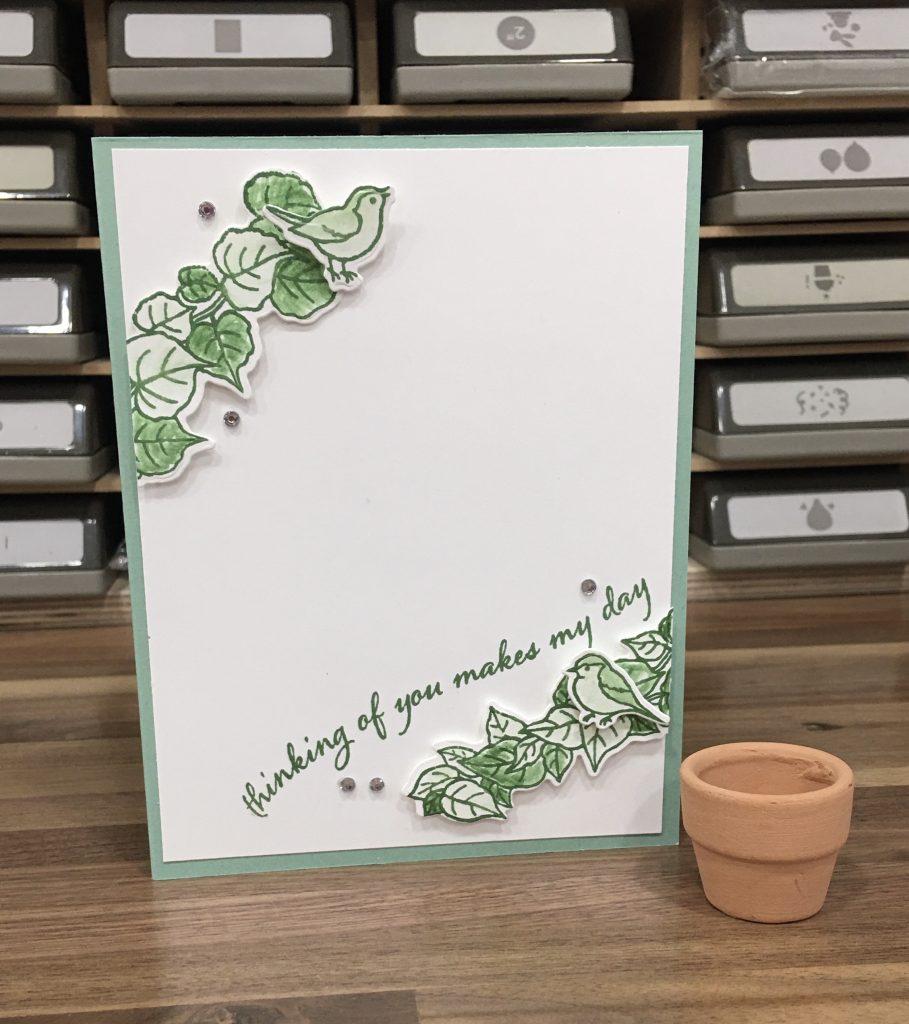 Bird Curvy Card